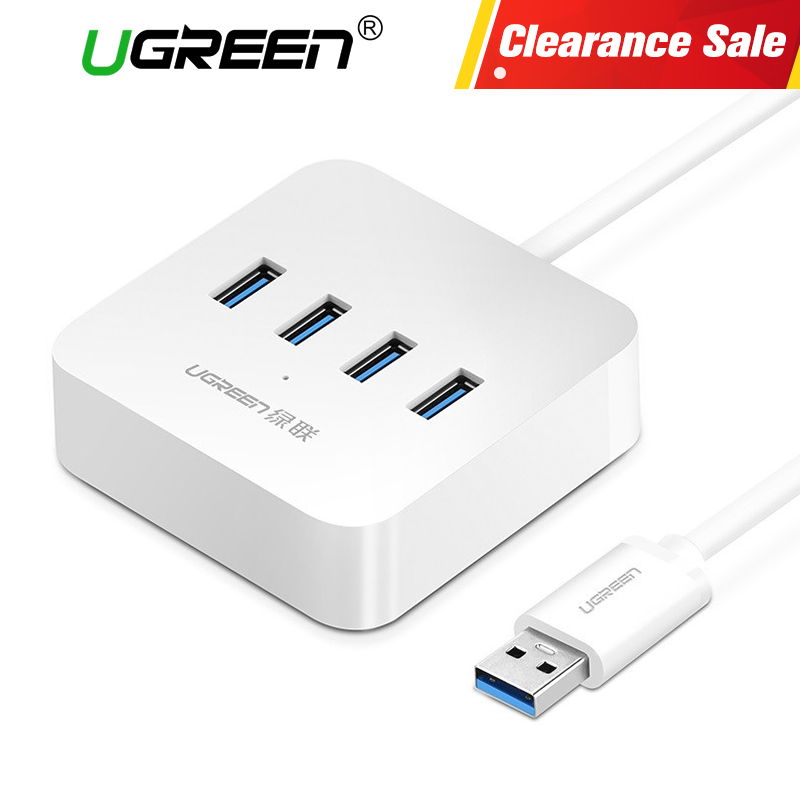 Ugreen 4 puertos USB 3,0 HUB alta velocidad 5 Gbps divisor USB con interfaz de carga de energía para Windows Mac Linux Laptop PC Usb Hubs