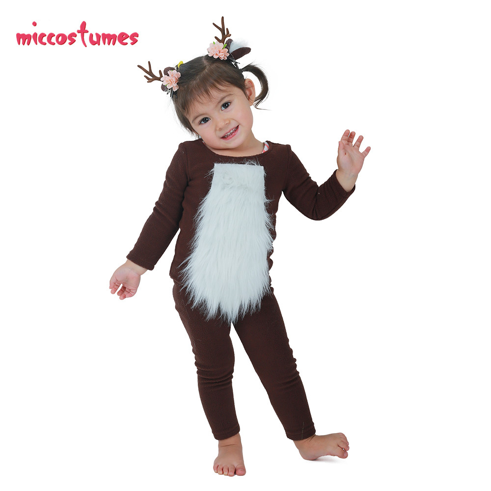 Image 2 - Child Deer Costume with Horns for Halloween-in Girls Costumes from Novelty & Special Use