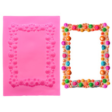 Cube Diamond Photo Frame Mold Silicone Cake Decorating Tools Lollipop Baking For Cakes