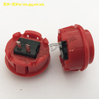 Free shipping 50 PCS/lot 30mm Round Push Button/arcade button with switch, buttons for arcade game machine DIY arcade controller