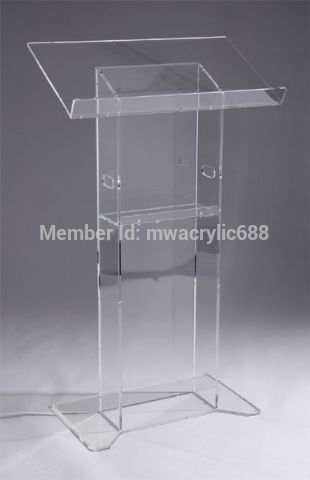 pulpit furniture Free Shipping High Quality Soundness Modern Design Cheap Acrylic Lectern acrylic podium
