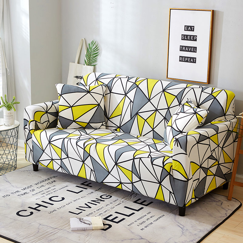 Image 5 - Elastic Slipcovers Sofa Universal Sofa Cover Cotton Stretch Sectional Couch Corner Cover Sofa Cover for living room pets 1PC-in Sofa Cover from Home & Garden