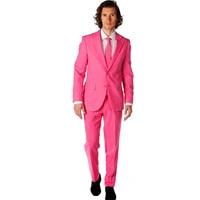 Мужской костюм мужской Розовый однобортный костюм из двух предметов (куртка + брюки) мужской деловой формальный банкетный костюм на заказ