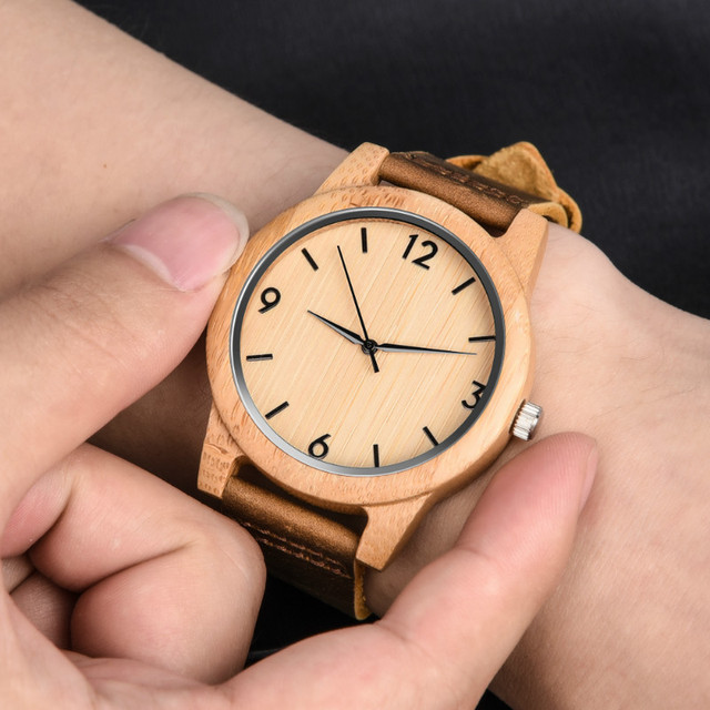 Relojes de madera de sándalo elegantes para hombre, relojes de pulsera de cuarzo de cuero militar de marca de lujo para hombre, relojes PJ