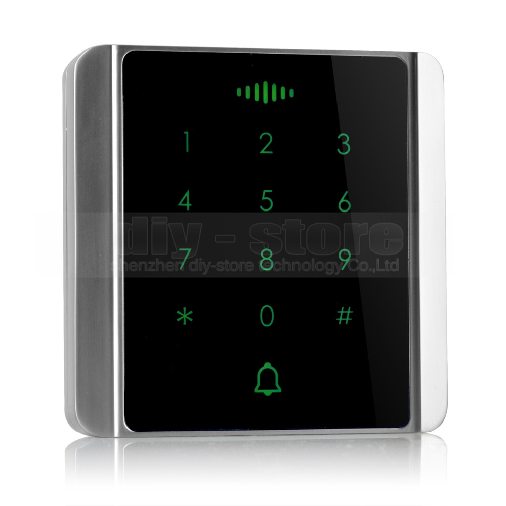 DIYSECUR 125KHz RFID Card Reader Touch Panel Backlight Password Keypad for Access Control System Kit C86 diysecur magnetic lock door lock 125khz rfid password keypad access control system security kit for home office