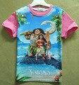Моана ChildrenBoys Девочек дети Футболка мультфильм костюм для детей одежда с коротким рукавом детская одежда девушки парни топы H641