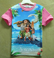 Moana ChildrenBoys Meninas miúdos T-shirt traje dos desenhos animados para crianças roupas de manga curta crianças roupas meninas meninos tops H641
