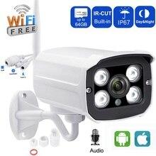 IP камера 720 P камера видеонаблюдения с WiFi bullet-камера для наружного наблюдения аудио запись с слот для карты SD водостойкий ночное видение обнаружения движения