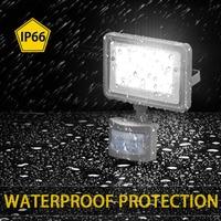 LED Flood Light 220V 10W PIR Motion Sensor Searching Lights Project Lamp Outdoor Lighting Waterproof IP66