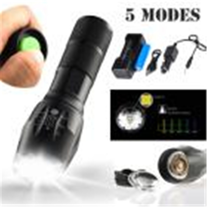 5000LM T6 LED Zoomable Flashlight Waterproof Torch Light Lamp 1865 Outdoor Outdoor Sports Cycling Accessories High Quality Apr 5