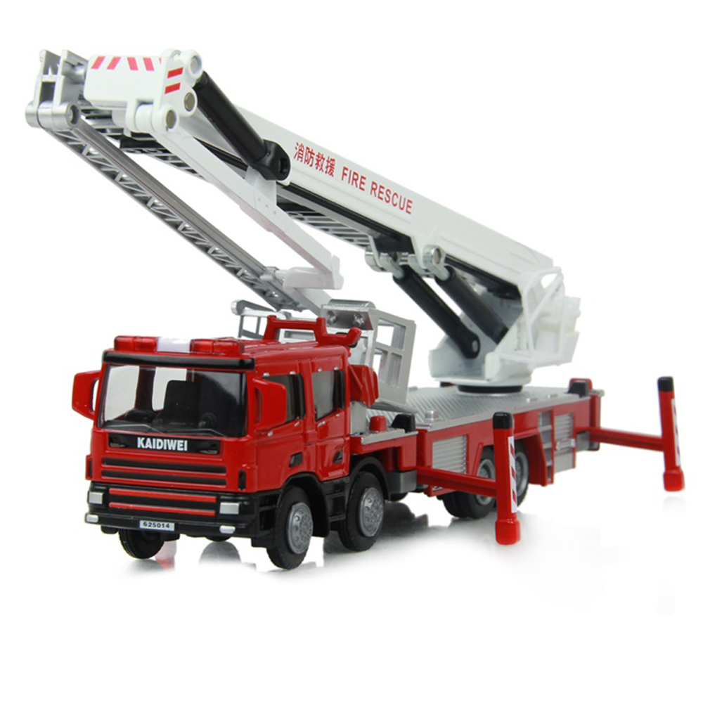 Children Toys Truck Alloy Fire Rescue Engineering Car Model Collection Kids Diecast Toy 1:50 Fire Engine Education Gifts Boys