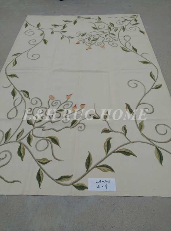 Free Shipping 6'X9' French Aubusson Rug, 100% hand woven New Zealand woolen rug - 1