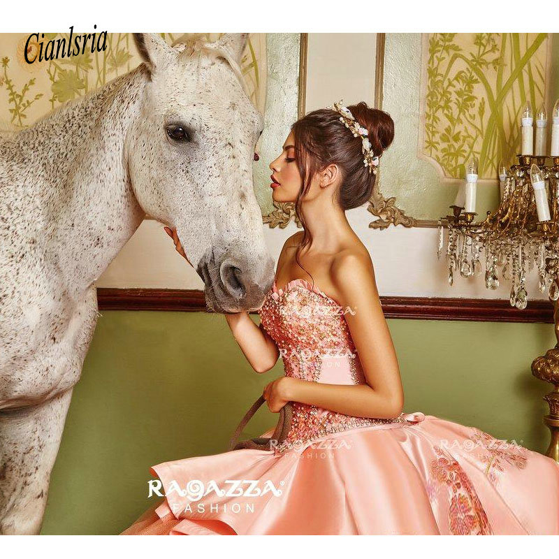 Hot Offer Classy Beaded Ball Gown Quinceanera Dresses