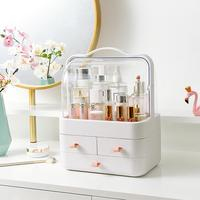 Explosion Models Transparent Cover Portable Cosmetic Storage Box Dressing Table Skincare Jewelry with Drawers Finishing Rack
