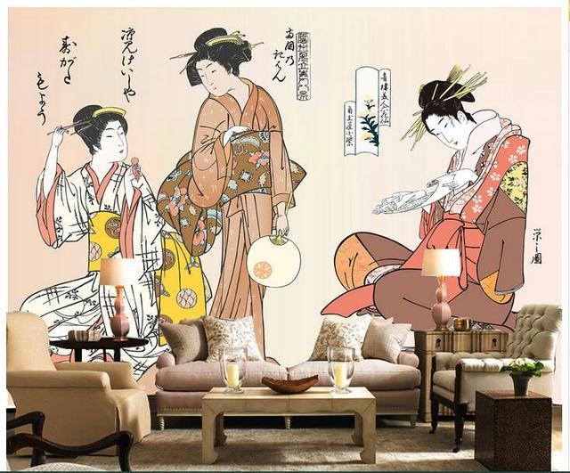 3d wallpaper custom photo non,woven mural wall stickers Japan\u0027s maid chat  painting living room