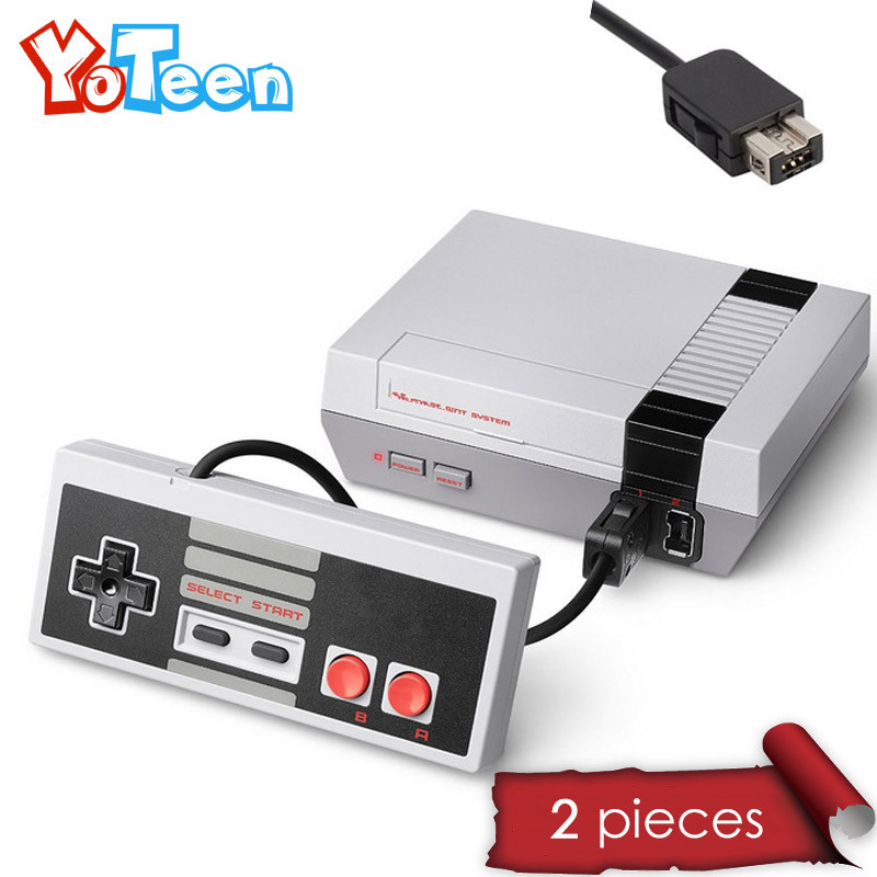 2Pcs NES Controller Gamepad Gaming Controller Gamepad Joystick For Nintendo NES Classic Edition Mini NES Wired Handle Gamepad x2