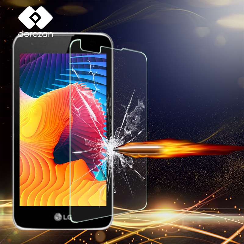 DEROZAN Tempered Glass Film For LG K8 LTE LG K350ds K350 PHOENIX 2 K371 Escape 3 Cricket K373 K350E K350N Dual SIM 4G Screen image
