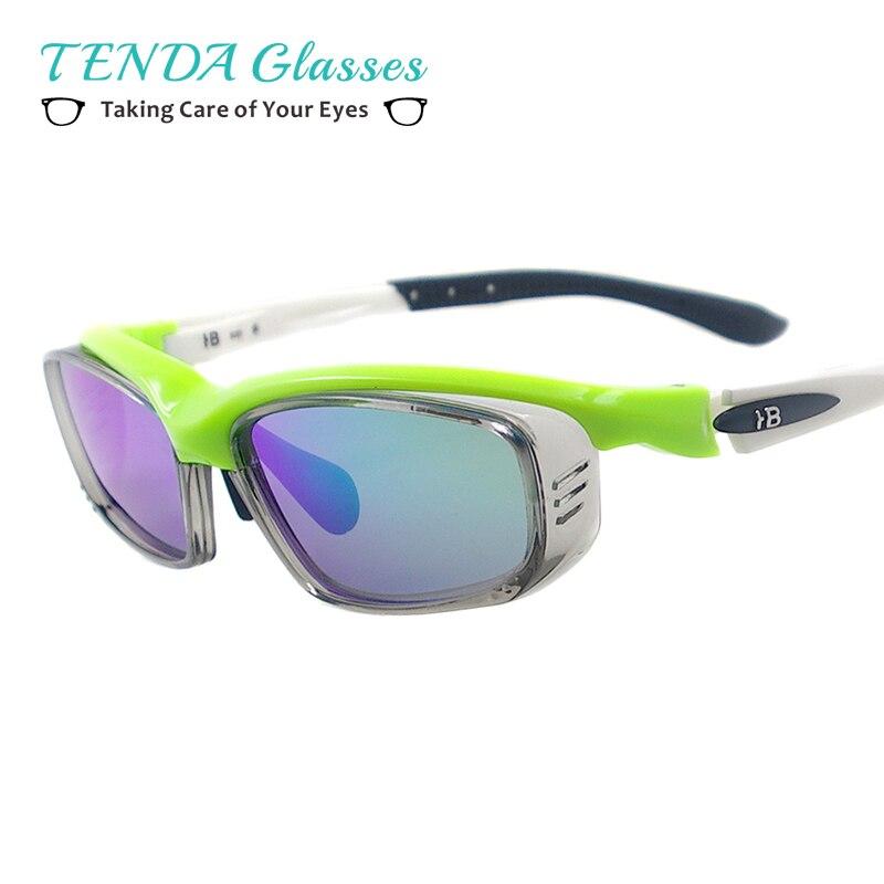Men Big Rectangular Polarized Driving TR90 Spectacles Sunglasses For Prescription Lenses