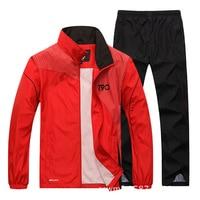 2019 Sport Suit Men Quick Dry Sports Suits Loose Tracksuits Mens Winter Autumn Fitness Running suits Set Warm Jogging Tracksuit