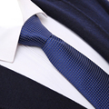 Gravata dos homens de Moda Clássico Verificado 6 CM Cruzou TECIDO JACQUARD Gravatas Skinny Tie Wedding Party Business Casual Laços Dos Homens Pescoço