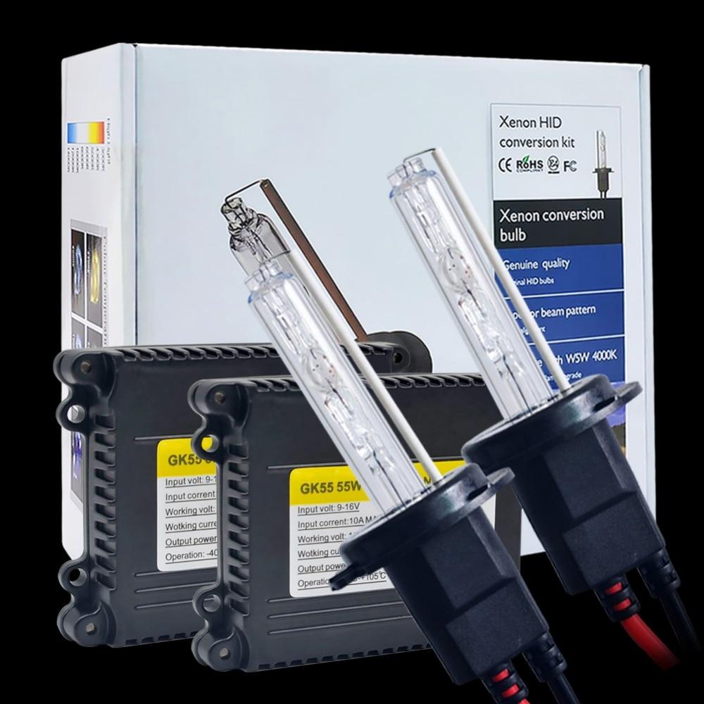One set xenon H7 car Xenon Hid Kit 55W H4 1 xenon bulbs H1 H3 H8