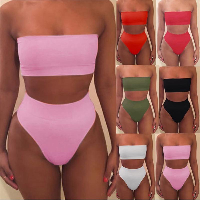 MSSNNG New Summer Women Sexy Bikini Set Push-up Unpadded Bra Swimsuit Swimwear Triangle Bather Suit Swimming Suit Biquini