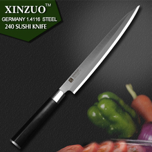 XINZUO 9.5 inch sashimi knife with Scabbard Germany steel cleaver kitchen knives One-sided chef knives sushi knife free shipping