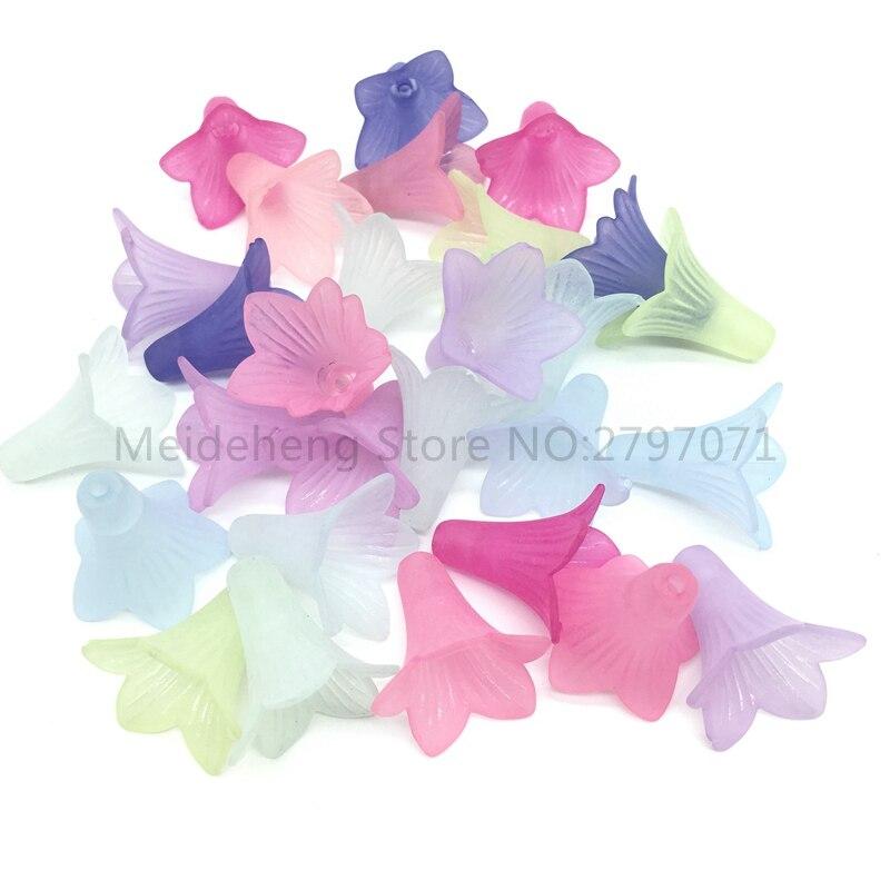 Акриловые бусины Morning Glory, яркие блестящие бусины для украшений, аксессуары для ювелирных изделий, размеры 21*23 мм, 40 дюймов