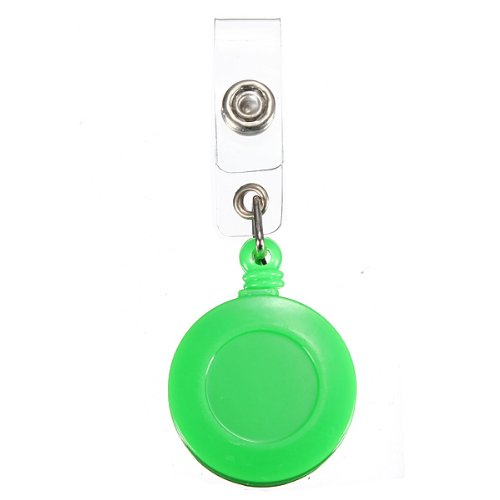 1 Pcs Badge Holder Retractable Reel YOYO Clip Snap Button ID Card Key Green