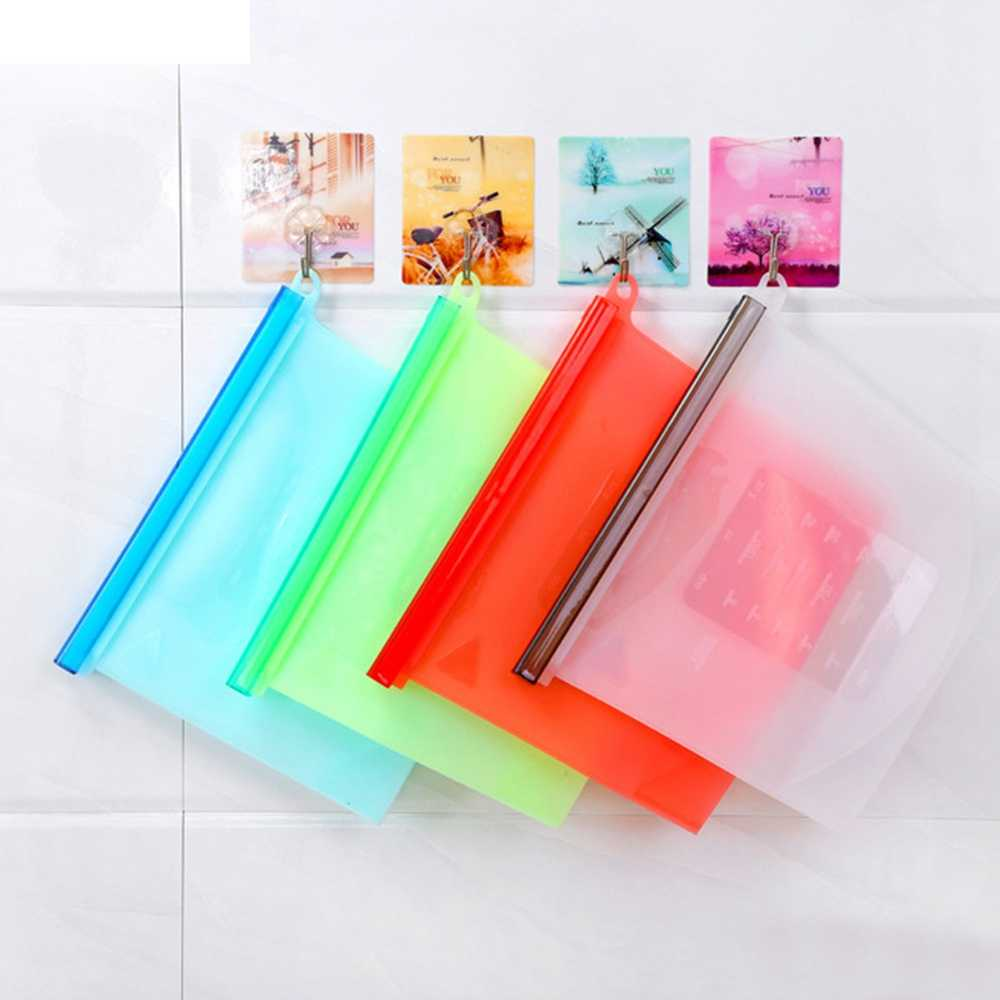4pcs/set Reusable Seal Silicone Food Fresh Bag Vacuum Sealer Fruit Meat Milk Storage Bags Storage Zip Lock Bags Kitchen Tools