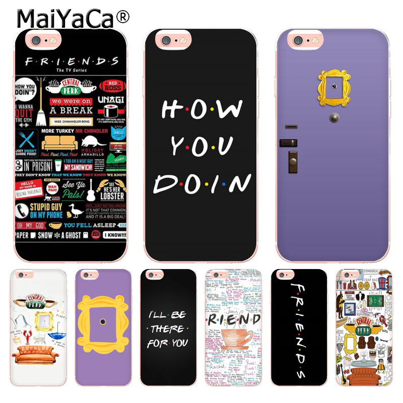 Friends Season TV Coque Shell Phone Case For Apple Iphone 8 7 6 6S Plus X XS XR XSMAX 5C 4 4S Cover