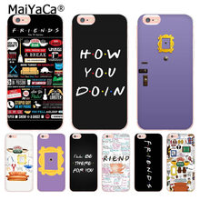 MaiYaCa Friends сезонное ТВ Coque Shell чехол для телефона Apple iPhone 8 7 6 6 S Plus X XS XR XSMAX 5C 4 4s чехол(China)