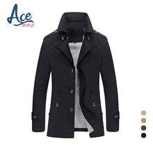 ACEMIRIZ 2017 Spring Men Coats Jacket Male Blazer Neck Men Casual Jacket Long Jacket Single Breasted Men's Coats HT-8308