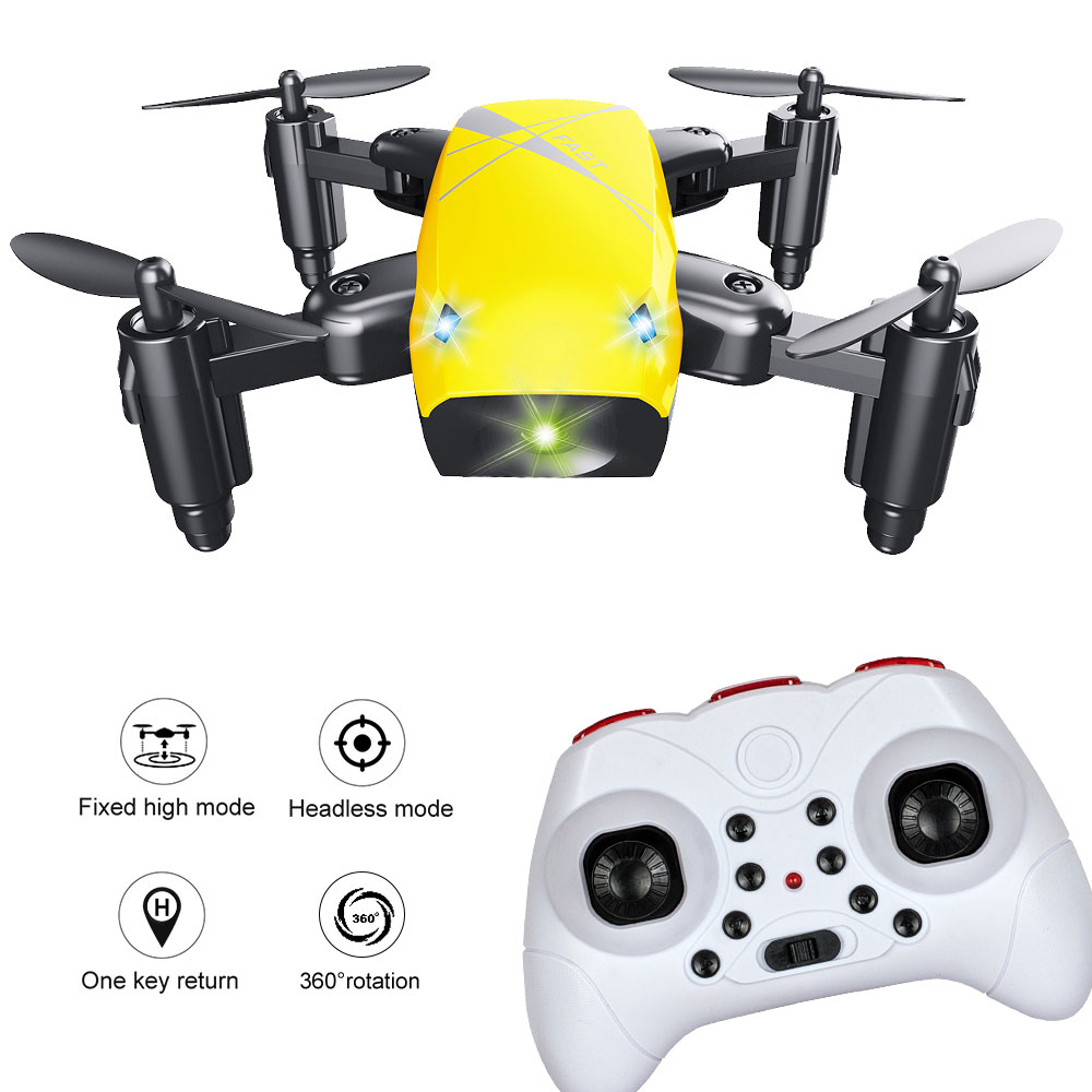 Mini Pocket Drone 4-Axis Foldable S9 RC Quadcopter Pocket Remote Control Helicopter 3D Tumbling / A Key Return Headless Mode brilink bh08 mini 2 4g radio control 4 ch quadcopter r c aircraft 3d tumbling w 6 axis gyro orange