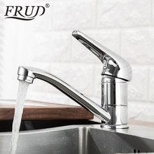 FRUD kitchen Faucet Deck Mount Waterfall Bathroom Vanity Vessel Sinks Mixer Tap Cold And Hot Water