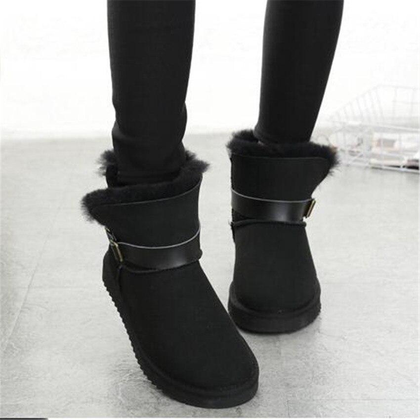 Grwg/Женская обувь из натуральной овечьей кожи, женские зимние ботинки 2018, женские зимние классические шерстяные зимние ботинки, обувь наивыс...
