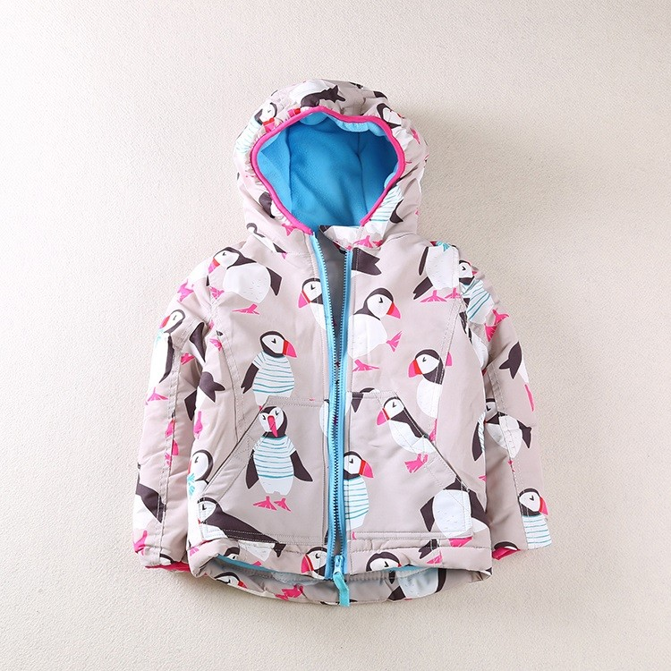 0d0e0bd6e Girls Boys winter coats Print Owl Penguin Thickened Cotton Jackets ...