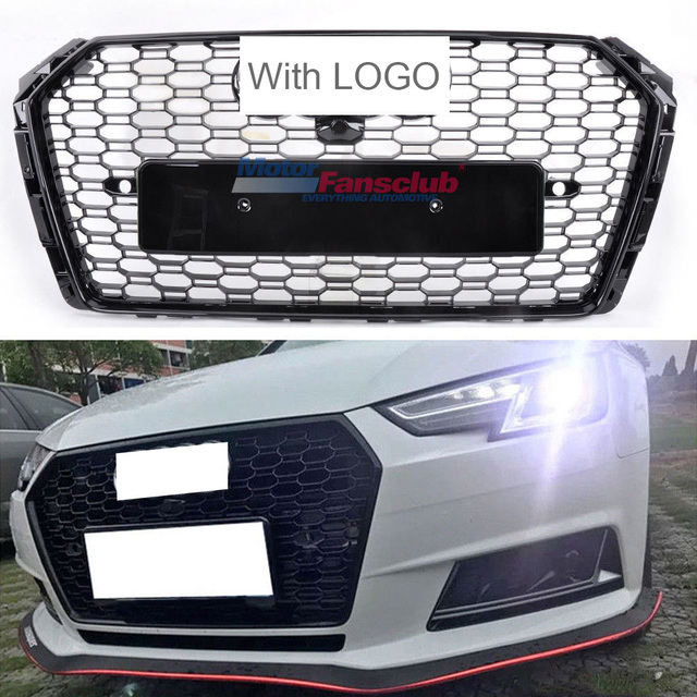 Car Racing Grille For Audi A4 B9 Grill 2016 2017 Rs4 Style Emblem