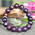 Wholesale Genuine Natural Purple More Blue Sugilite Stretch Finish Men Bracelet Round beads 12.5mm 03759