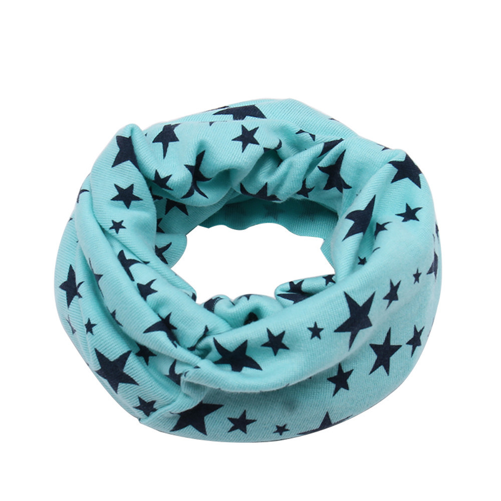 Stars Children/'s Cotton Neckerchief Kids Neck Shawl Baby Neckerchief Scarf G