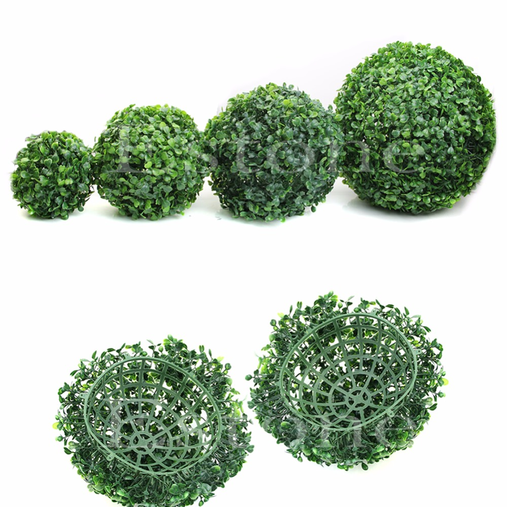Artificial Topiary Trees Cheap Part - 39: Discount !! New Artificial Plant Ball Tree Boxwood Wedding Event Home  Outdoor Decoration Hot