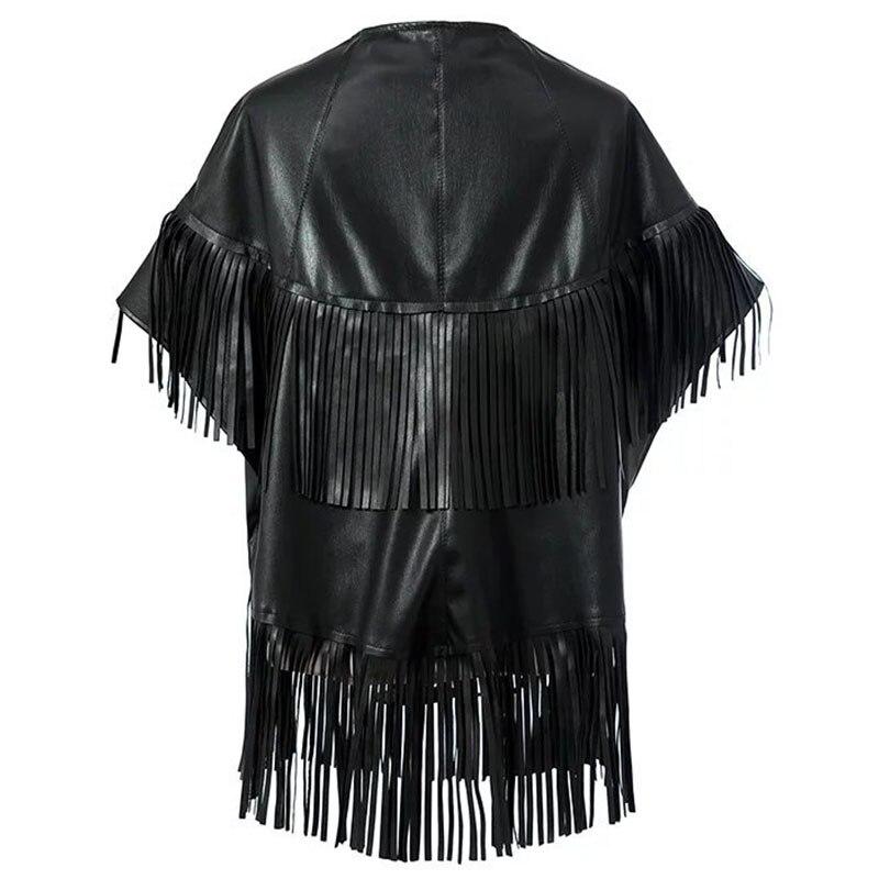 Sexy V cuello chaqueta de cuero de mujer 2019 nueva moda mujer de Cabo 991ba764d50a