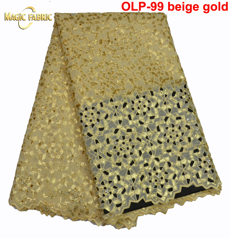 Allover sequins big heavy handcut organza lace African Swiss lace fabric 5 yards per piece OLP 99