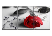 3 panel Print Canvas Wall Art Pretty Roses  Decoration Painting Modular Pictures On The
