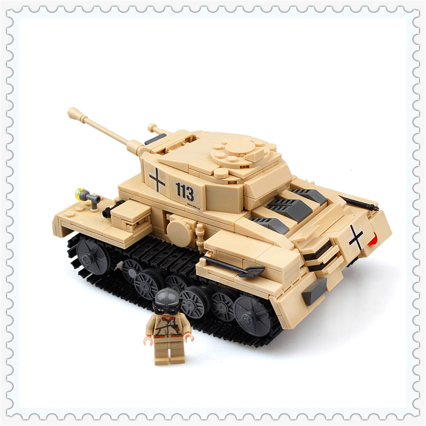 548Pcs Building Block Toys German Tiger Cannon Tank Model KAZI 82008 Figure Brinquedos Gift For Children Compatible Legoe lepin 22001 pirate ship imperial warships model building block briks toys gift 1717pcs compatible legoed 10210