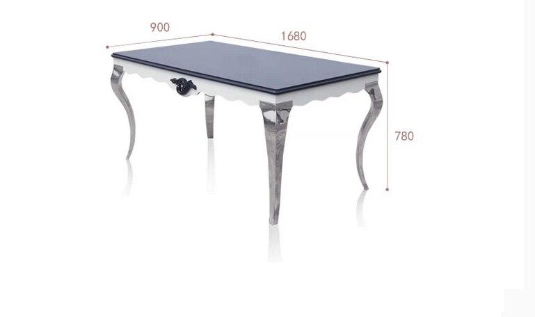1 tisch + 4 stuhl) 1,35 mt moderne schwarz edelstahl küche table set ...