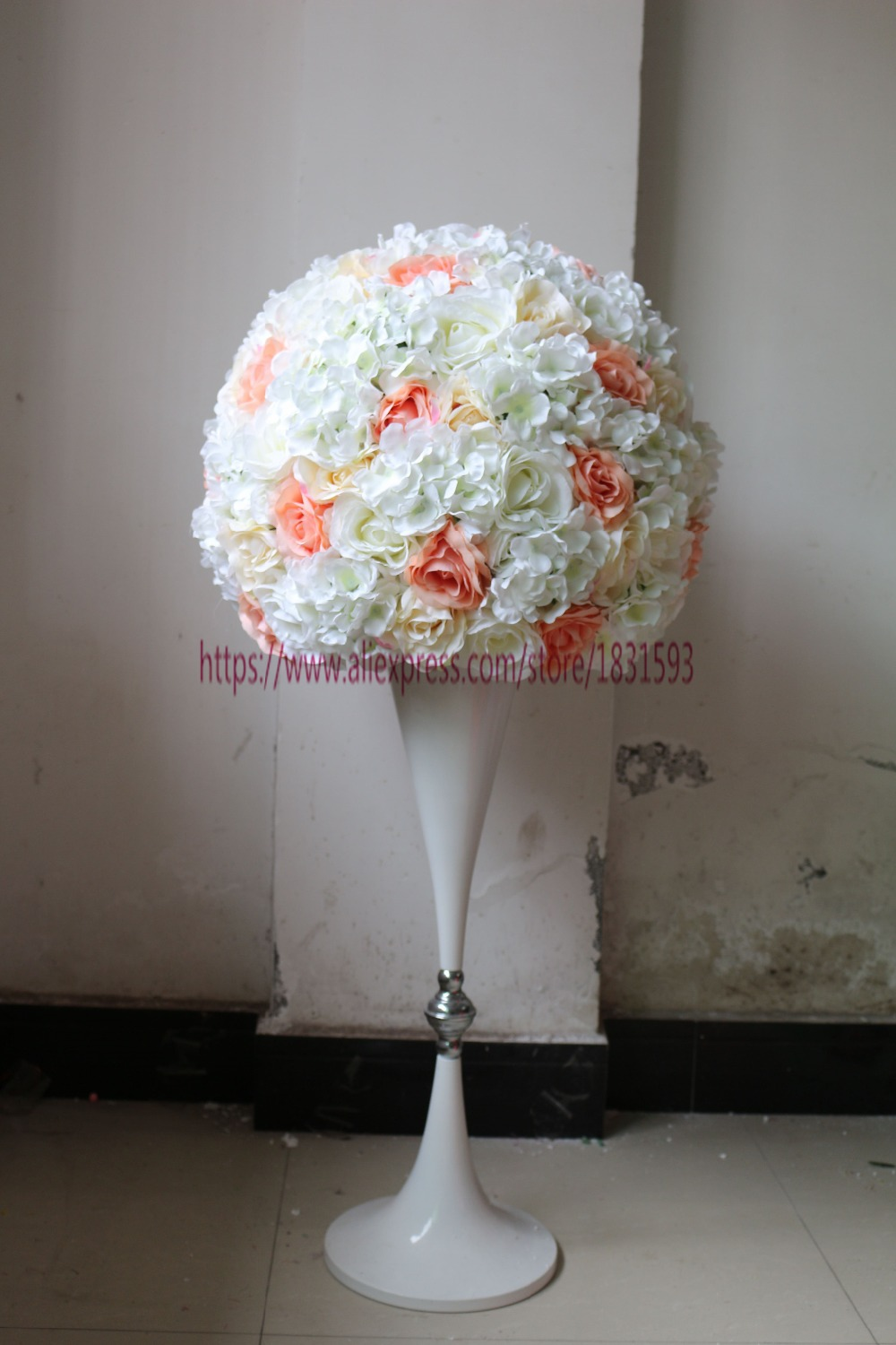 Wedding road lead ball artificial flowers wedding for Artificial flower for wedding decoration