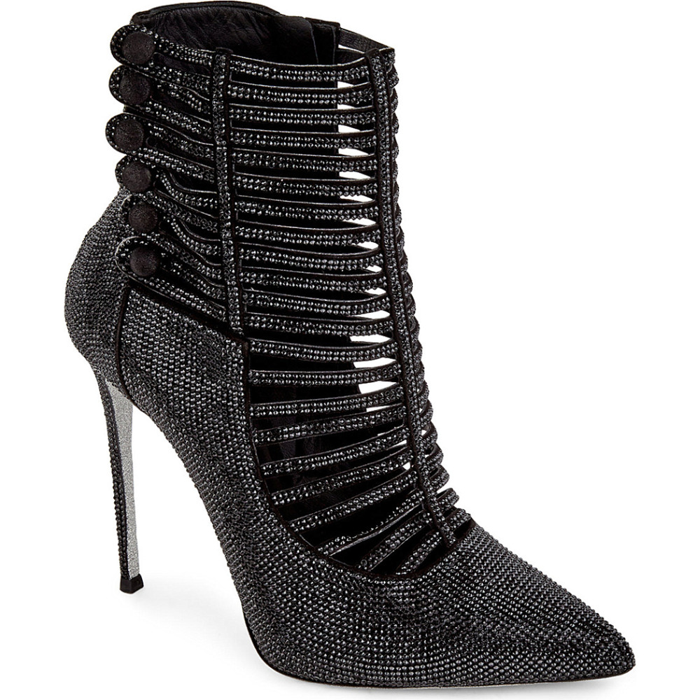 Sommer Stiefel Warenkorb Rinestone Booties Schuhe Luxus Strap High Pleather Schwarz Heraus Zehe Silber Frauen Heels Punkt Black Frau Ankle prwpBSqEAn