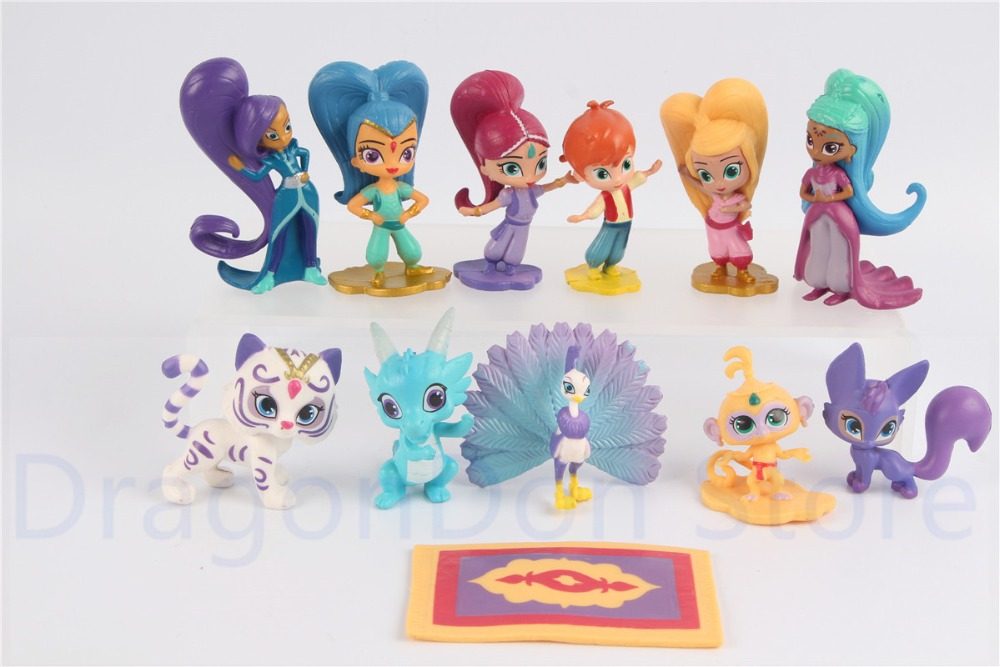 US $9.99 |Nick Jr. Shimmer and Shine Party Favors Set of 12 Figures Kids Toys|Action & Toy Figures| | AliExpress