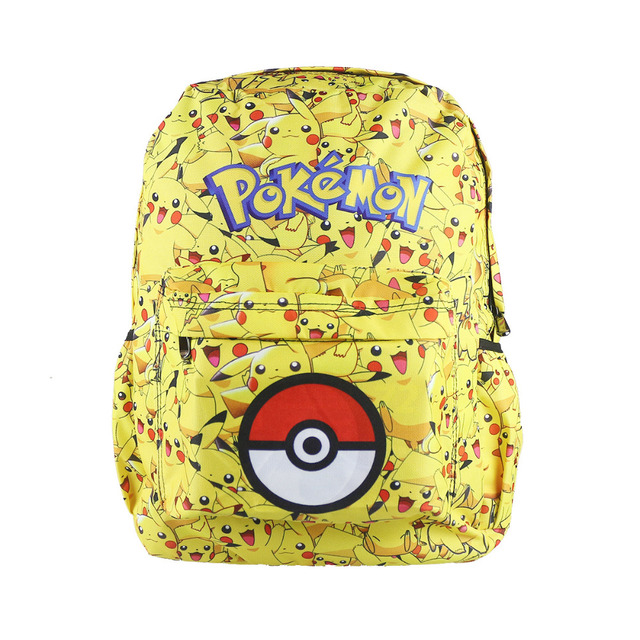 1012d80c5742 Anime Pokemon Go Game Backpack Boys Girls School Bags Teenagers Pikachu  Backpacks Kids Pokeball Shoulder Bag Children Rucksack